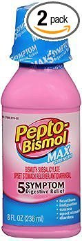 (Pepto-Bismol Max Strength Liquid - 8 oz, Pack of 2)