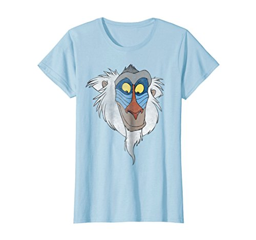 - Womens Disney Lion King Rafiki Big Face Graphic T-Shirt Medium Baby Blue
