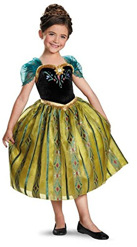Disney Anna Costumes For Adults (Disney's Frozen Anna Coronation Gown Deluxe Girls Costume)