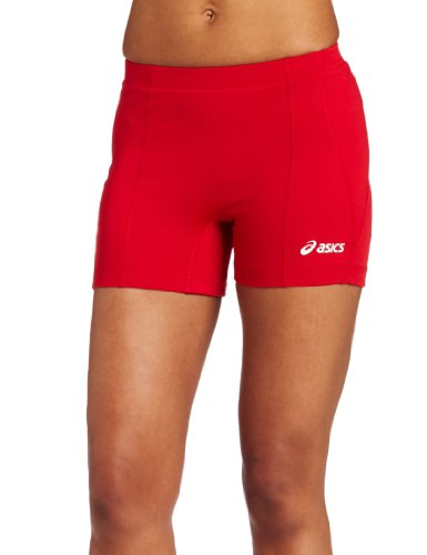 ASICS Women's Baseline Volleyball Shorts, Red, ()