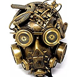 Biohazard Steampunk Gas Mask and Goggles Spikes Full Face Halloween Mask ( Assorted colors)