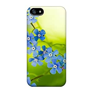 Hot Fashion Design Case Cover For Iphone 5/5s Protective Case (green Beautiful Flowers)