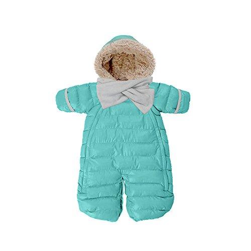 7 A.M. Enfant Doudoune One Piece Infant Snowsuit Bunting, Teal, Medium