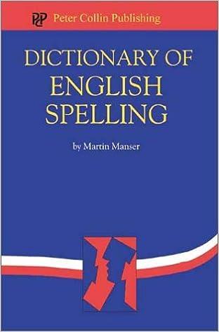 Amazon com: Dictionary of English Spelling (9781903856246