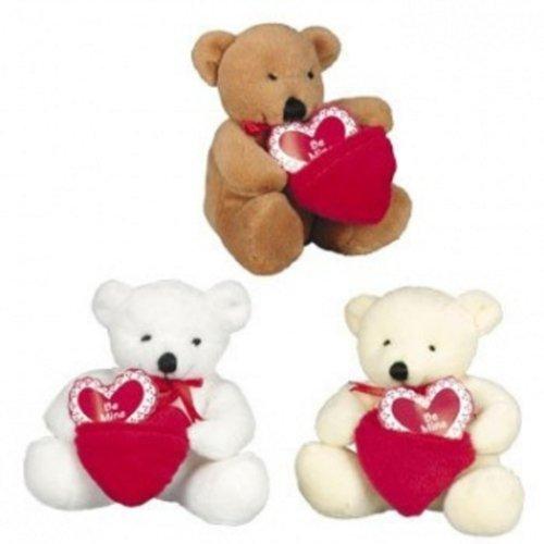 Dozen Plush Valentine Bears with Pocket Be Mine Hearts - Bulk Wholesale Toys by FX