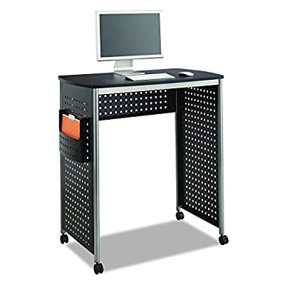 Safco Products 1907BL Scoot Sit Down Computer Workstation Desk with File Pocket from Safco Products