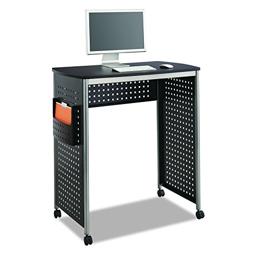 Safco Products 1908BL Scoot Stand Up Computer Workstation Desk with File Pocket, Black by Safco Products