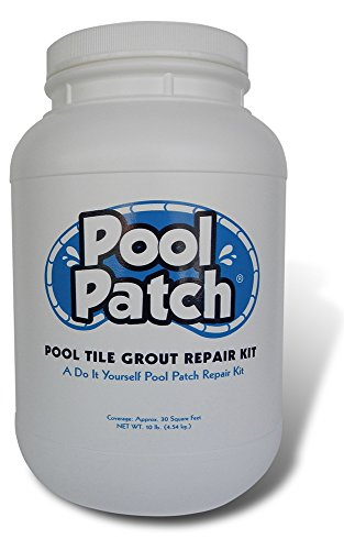 Pool Patch White Pool Tile Grout Repair Kit, 10-Pound, (10 Lb White Pool)