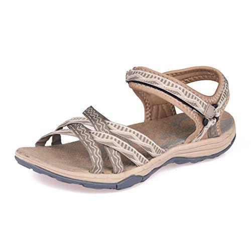 GRITION Women Hiking Sandals, Outdoor Girl Sport Summer Flat Beach Water Shoes