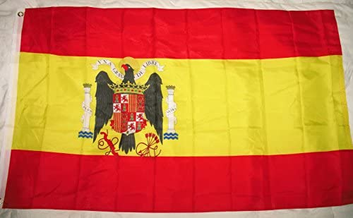 3 x5 de bandera de España bajo FRANCO 1938 – 1945 español Banner: Amazon.es: Jardín