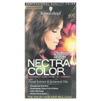 schwarzkopf natural easy nectra color no 600 light brown permanent care color 1 set - Schwarzkopf Nectra Color