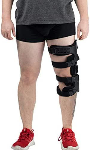 Hinged Knee Brace, Adjustable Post-Op Knee Support OA Unloading Knee Brace for ACL/Ligament/Sports Injuries, Mild Osteoarthritis & Preventive LProtection Knee Joint Pain/Degeneration - Left