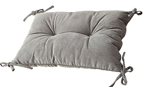 Corduroy Thicken Padded Chair Pad Cushion with Ties Rectangle Stuffed Backrest Shaped LivebyCare Filled Seat Back Cushions Insert Filling for Decor Decorative Drawing Living Room by LivebyCare