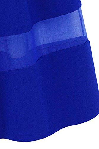 ACHICGIRL Mujer A-Línea Falda Plisada Casual Gasa Organza Blanco