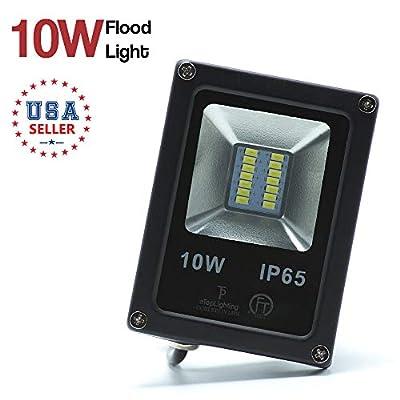 4.5in 10W 12V Waterproof LED Flood Light Outdoor Garden Landscape Daylight White