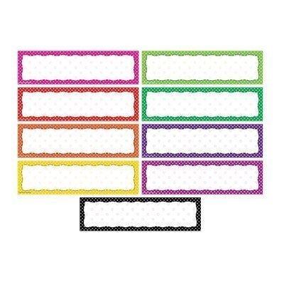 Polka Dot Blank Headliners by Teacher Created Resources ()
