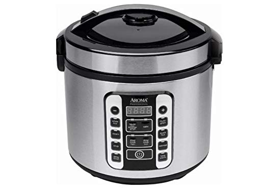 Aroma Housewares ARC-1020SB Aroma Rice Cooker & Food Steamer, 20-Cup, Silver