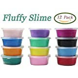 Jofan 12 Colors Fluffy Slime Soft Super Light Clay Floam Slime Toy for Kids, DIY, Party Favors