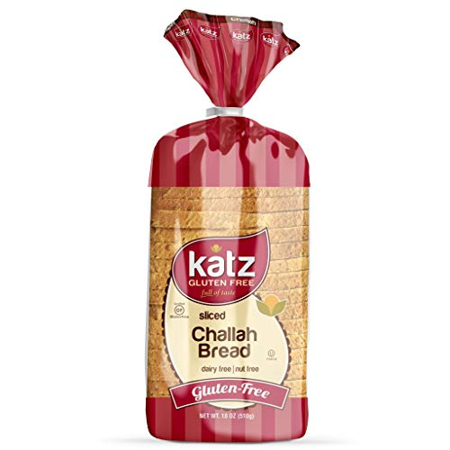 Katz Gluten Free Sliced Challah Bread | Dairy, Nut and Gluten Free | Kosher (1 Pack of 1 Sliced Loaf, 18 Ounce) ()