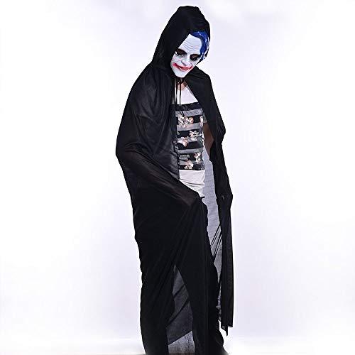 Lovewe Turtle Neck Bronzing Grim Reaper Cloak Coat Wicca Robe Halloween Party Ghost clothes,Halloween Constum (L)]()