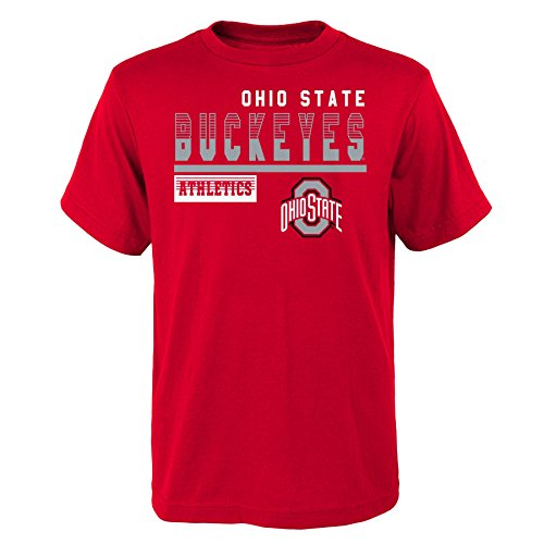 - Gen 2 NCAA Ohio State Buckeyes Kids & Youth Boys Sonic Boom Basic Tee, Youth Boys X-Large(18), Red