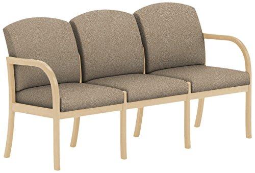 Lesro Weston W3301G5NVTERR 3 Seat Sofa in Natural Finish, Tendril River Rock