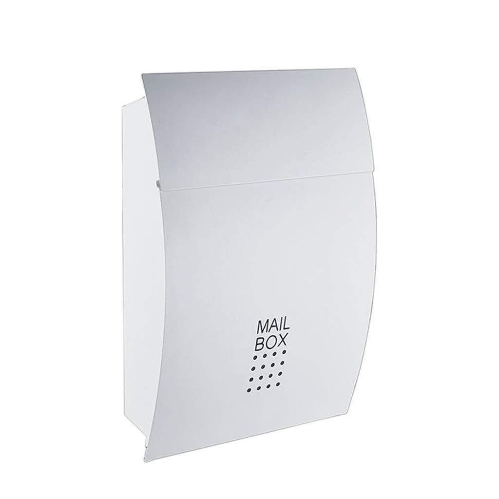 メールボックス、レポートボックス屋外防風壁掛けメールボックス大型クリエイティブ提案ボックス新聞マガジンポストボックス(カラー:ホワイト)   B07TV2DKF3