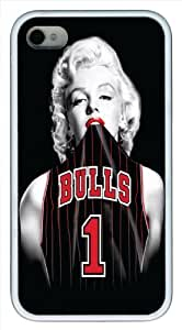 Personalized iPhone 4,4S Case,Marilyn Monroe Chicago Bulls Case