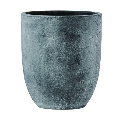 フォリオ アルトエッグ 43 x H 50 cm/軽量 コンクリート/植木 鉢 プランター 【 ブラック ウォシュ 】 B01N28NPBX  ブラックウォッシュ