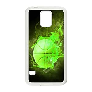 ZK-SXH - Fire basketball Personalized Phone Case for SamSung Galaxy S5 I9600, Fire basketball Customized Phone Case