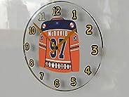 FanPlastic Connor McDavid 97 'Lets Go Oilers' Wall Clock - Canadian Hockey League Legends Ed
