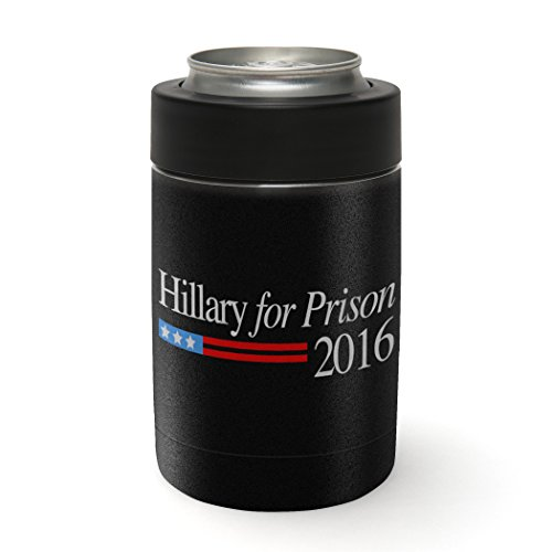 Hillary for Prison 2016 Black Vinyl Skin Decal Wrap for the Yeti Rambler Colster