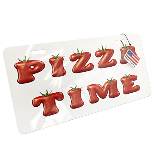 NEONBLOND Metal License Plate Pizza Time Red Tomato