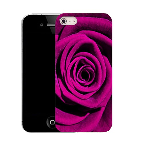 Mobile Case Mate IPhone 4s clip on Silicone Coque couverture case cover Pare-chocs + STYLET - petal rose pattern (SILICON)