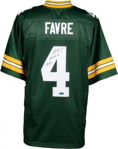 Amazon.com  Framed Brett Favre Green Bay Packers Autographed Green  Authentic Jersey with Retired Number 11 26 15 Inscription - Fanatics  Authentic Certified  ... e6f737c4c