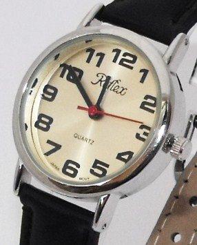 Reflex 101221LT - Reloj de pulsera de mujer (esfera con números grandes, correa de