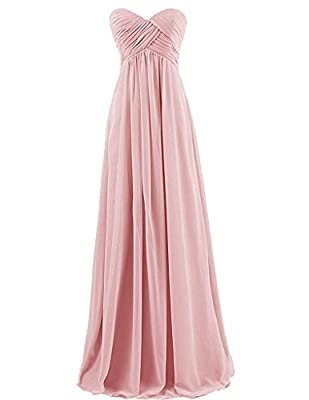 Tngan Bridesmaid Chiffon Prom Dresses Long Evening Gowns