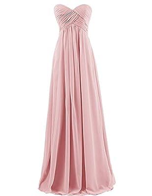 Tngan Bridesmaid Chiffon Prom Dresses Long Evening Gowns
