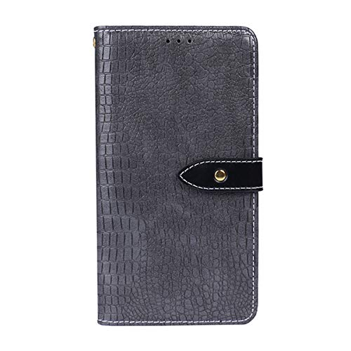 Scheam Oppo A5 Case Wallet Leather, Oppo A5 Case with Card Holder and Kickstand, Oppo A5 Wallet Case with Leather iPhone Cases, Leather iPhone Cases Case Replacement for Oppo A5 Grey