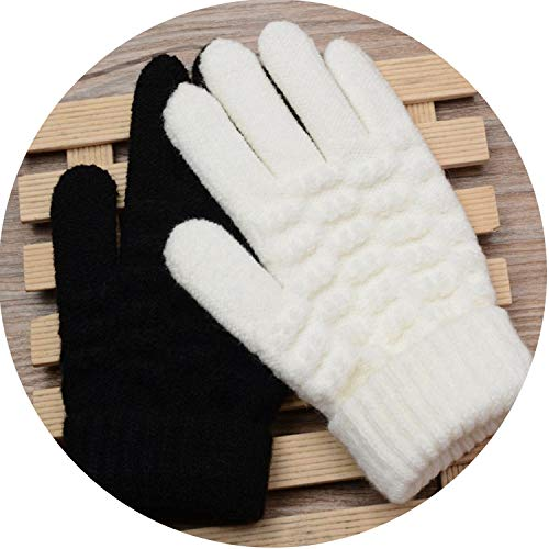 Kids Thick Knitted Gloves Warm Winter Gloves Children Stretch Mittens Boy Girl Infant Solid Guantes Hand Accessories