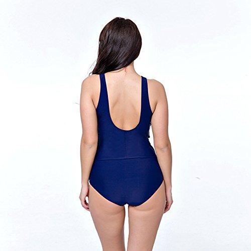 SHISHANG traje de baño de cuerpo de bikini de las mujeres de Europa y Estados Unidos móvil traje de baño de la playa de la junta de gran tamaño mujer gorda alta elasticidad protección del medio ambien Green