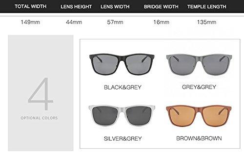 marca Gafas Lunette sol UV400 hombres MXNET Diseñador de los Gafas Sombras Hombre Soleil de de polarizadas la vendimia de Homme la Gray de aluminio wnqSpp0HT
