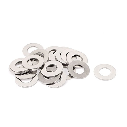 - uxcell 20pcs 304 Stainless Steel M12 Thin Flat Washers Silver Tone