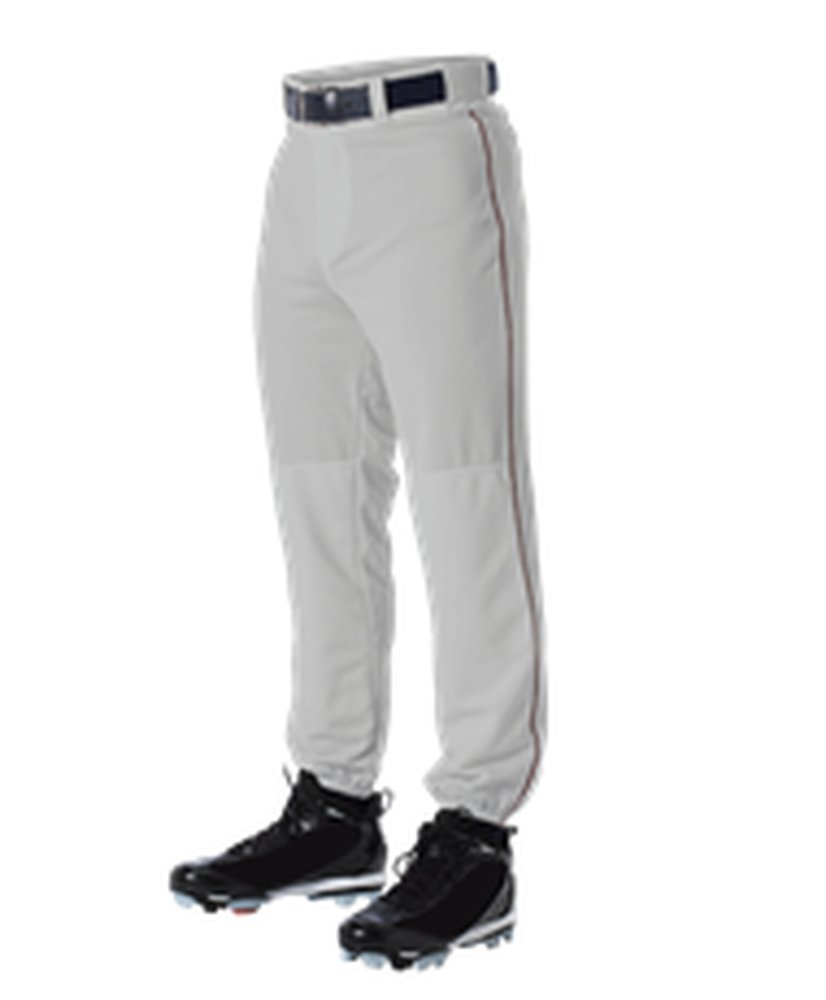 Alleson Athletic PANTS ボーイズ B071XC4M53 Medium|Grey, Maroon Grey, Maroon Medium
