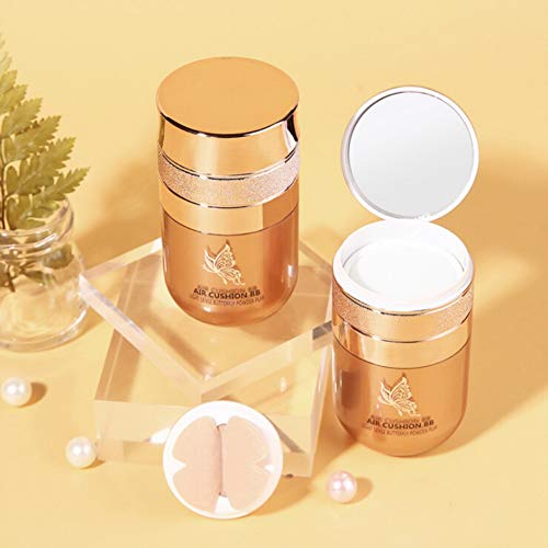 Allouli Butterfly Air Cushion BB Cream with Powder Puff Concealer Foundation Liquid Makeup Waterproof