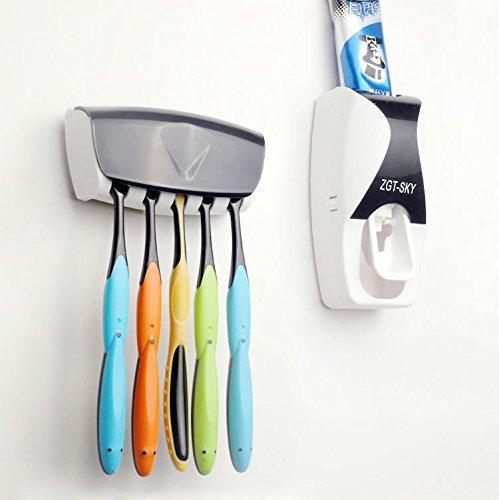 GoLine automatische Zahnpastaspender Zahnpasta mit Zahnbürstenhalter Weiß