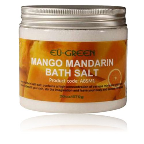 ssage Natural Sea Mineral Bath Salts, 2 Ounce, Mango Mandarin ()