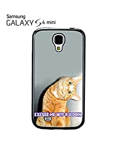Cat Ginger Kitten WTF Meow Mobile Cell Phone Case Samsung Galaxy S4 Mini White