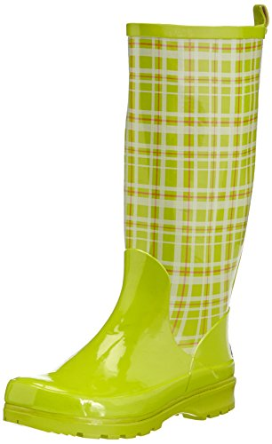 Playshoes Caucho Mujer 29 De Plaid grün Wellington Vert Casa Estar Wellies Grün Zapatillas Por Verde Boots Green zafzqwrv
