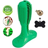 Dog Dental Care Toothbrush Chew Toys Updated Version Bite Resistant Rubber Non Toxic (Include Bell and Tag)